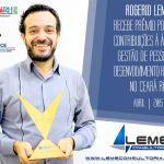 Rogeio Leme recebe prêmio no Ceará RH 2015