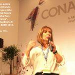 """Marcia Vespa, autora do livro """"Um RH Visto de Cima – O que a Alta Administração Espera que Você Saiba Para Fazer a Diferença"""", palestra no Auditório B do CONARH ABRH 2015"""